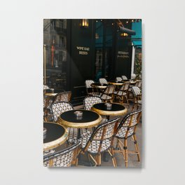 Paris Cafe VIII Metal Print
