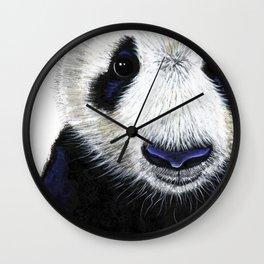 Panda Bear ' PANDA ' by Shirley MacArthur Wall Clock