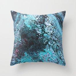 Acrylic pour 1 Throw Pillow