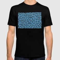 Yzor pattern 006 kitai blue Black Mens Fitted Tee MEDIUM