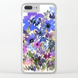 Heavenly Blues and Purples Clear iPhone Case