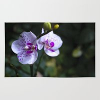 orchid Area & Throw Rugs featuring Orchid by MVision Photography