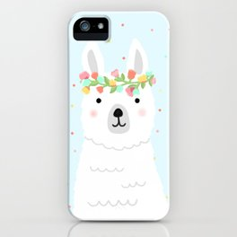 l is for llama iPhone Case