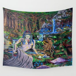 The Fountain loss Wall Tapestry