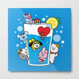 Kawaii Dive Metal Print