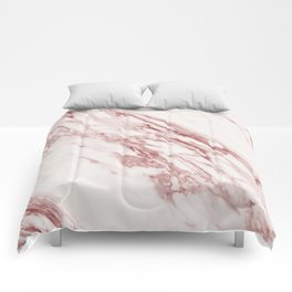 Marble Rosa Pallido, Pale Pink Comforters