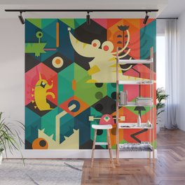Poached Egg Party Wall Mural