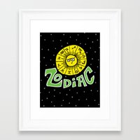 zodiac Framed Art Prints featuring Zodiac by Elizabeth Evans