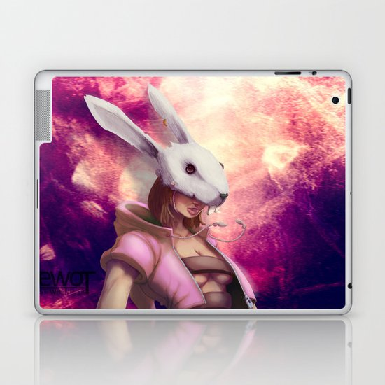 White Rabbit Galaxy Laptop & iPad Skin