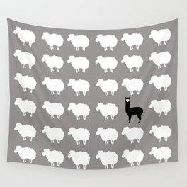 Don't be a sheep, Be a Llama Wall Tapestry