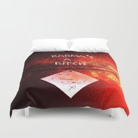 karma Duvet Covers featuring Karma by Veronica Ventress
