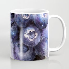 Watercolor Blueberries - Food Art Coffee Mug