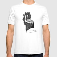 Summer Love White SMALL Mens Fitted Tee