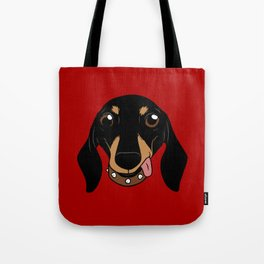 Say hi to the cute Dachshund your short-legged doggie friend Tote Bag