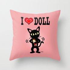 I love doll Throw Pillow