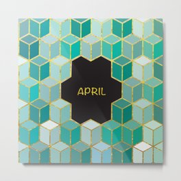 Cubes Of April Metal Print
