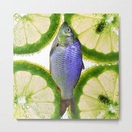 Lime Fish Metal Print