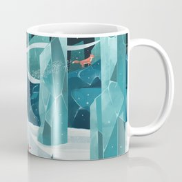 The wanderer and the ice forest Coffee Mug