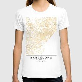 BARCELONA SPAIN CITY STREET MAP ART T-shirt