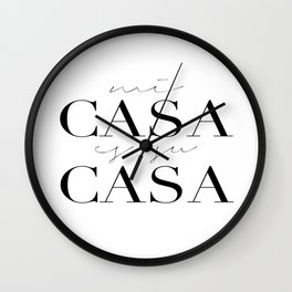 HOME DECOR,Home Sweet Home Sign,Mi Casa Es Su Casa,Modern Art,Spanish Decor,Spanish Sign,Home Sign Wall Clock
