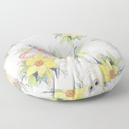 English Spring Garden Floor Pillow