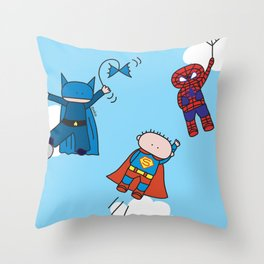 Superheros Throw Pillow