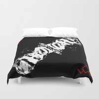 lynch Duvet Covers featuring Lynch & Twin & David & Peaks by Spyck