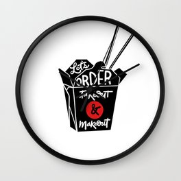 takeout & makeout Wall Clock