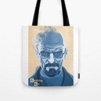 heisenberg Tote Bags featuring Heisenberg by James Northcote