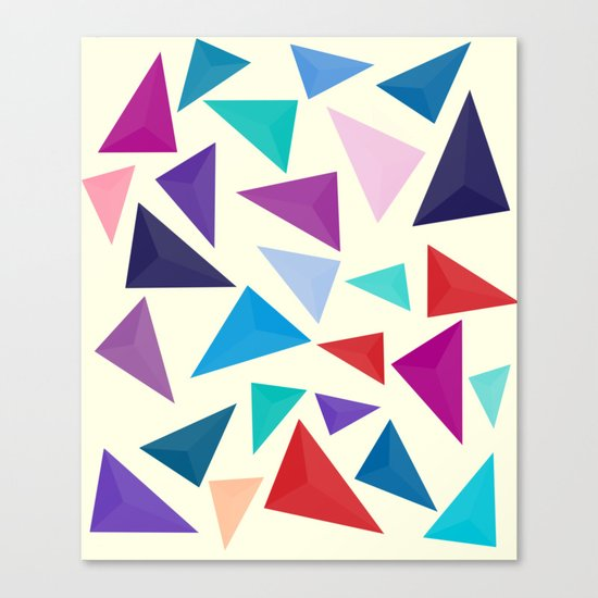 Colorful geometric pattern Canvas Print