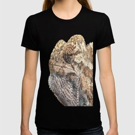 Chameleon With Sinister Facial Expression Isolated T-shirt