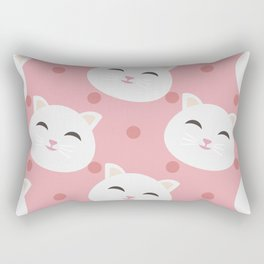 Cute white cat Rectangular Pillow