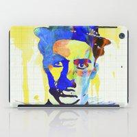 charlie chaplin iPad Cases featuring charlie chaplin 04 by manish mansinh