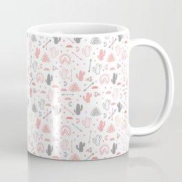 cute cacti in the desert. Coffee Mug