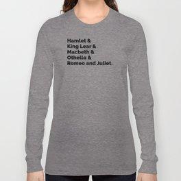 The Shakespeare Plays II Long Sleeve T-shirt