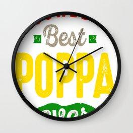 World's Best Poppa Wall Clock