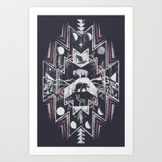 Phases (Dark) Art Print
