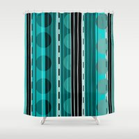 road Shower Curtains featuring Road by JuniqueStudio
