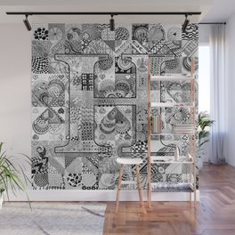 The Letter H Wall Mural