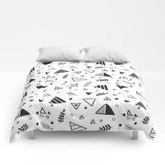 Organic Triangles Comforters