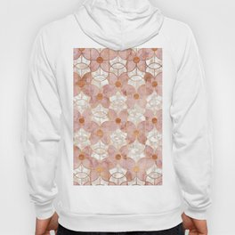 Rose Gold Art Deco Butterfly Pattern Hoody