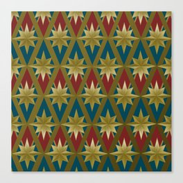 Gold Stars of a Hero Canvas Print