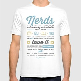 Nerds - John Green T-shirt