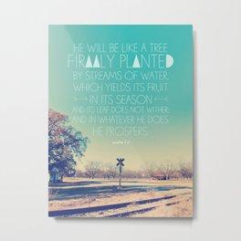 Psalm 1:3 Metal Print