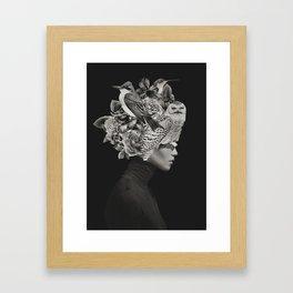 Lady with Birds(portrait) Framed Art Print