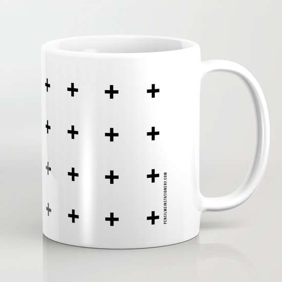 Black Plus on White /// www.pencilmeinstationery.com Mug