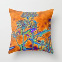 popart Throw Pillows featuring PopArt Floral by AlexisAnne