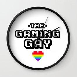 the gaming gay gamer 8bit pixel Wall Clock