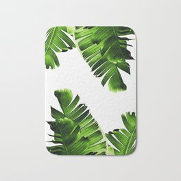 Green banana leaf Bath Mat