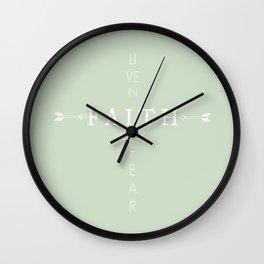 Live In Faith Arrow Print Wall Clock